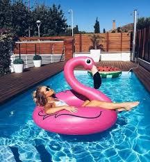 Boia Flamingo Rosa e Laranja Anel 90cm