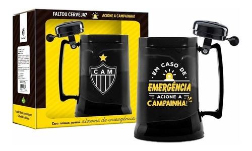 Caneca Cerveja Gel Atlético Time Galo Futebol Campainha 450ml