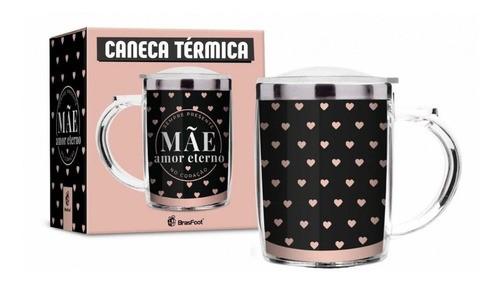 Caneca Térmica Mãe Amor Eterno Com Tampa 350ml Presente
