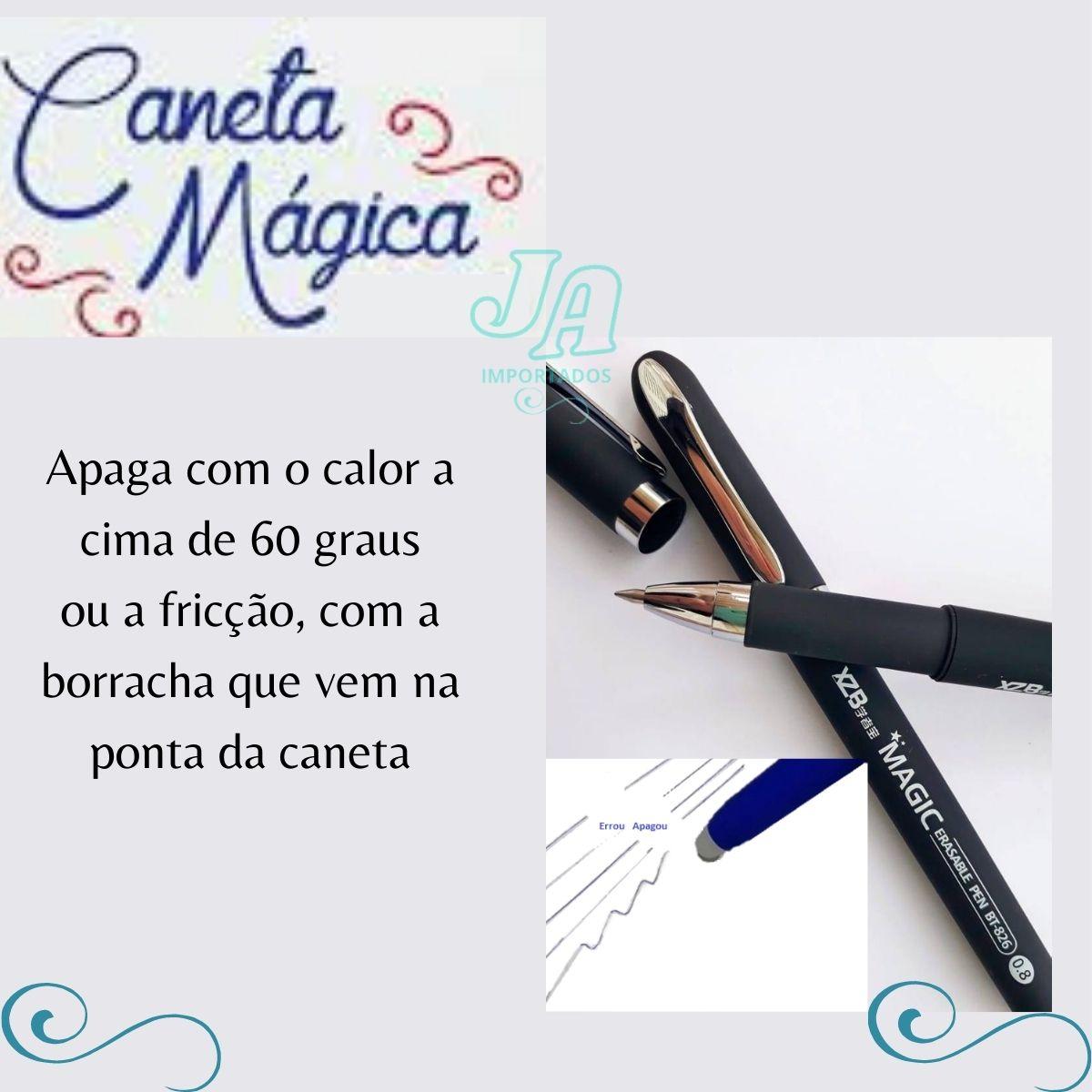 caneta que apaga caneta apagável Magic escrita 0.8 c/12un