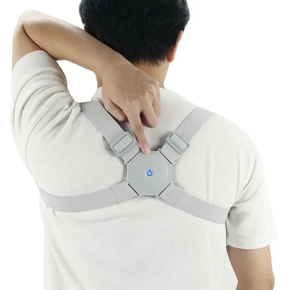 Colete Corretor Postura Costas Coluna Com Sensor Inteligente