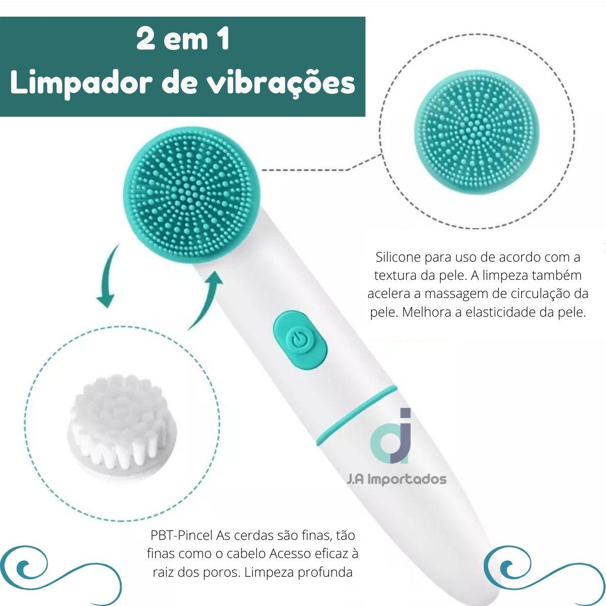 Escova elétrica de limpeza facial  vibração sonica