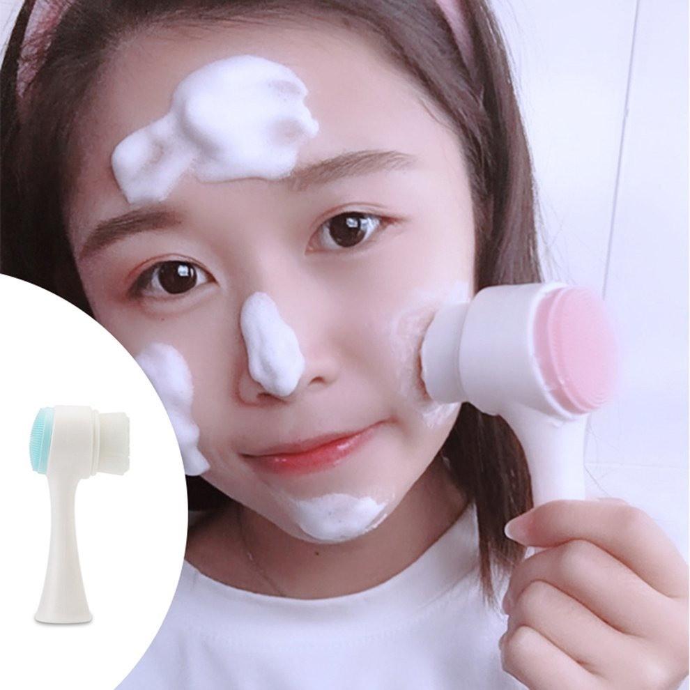 Escovas De Limpeza Facial Massageadora Manual 2 Funções