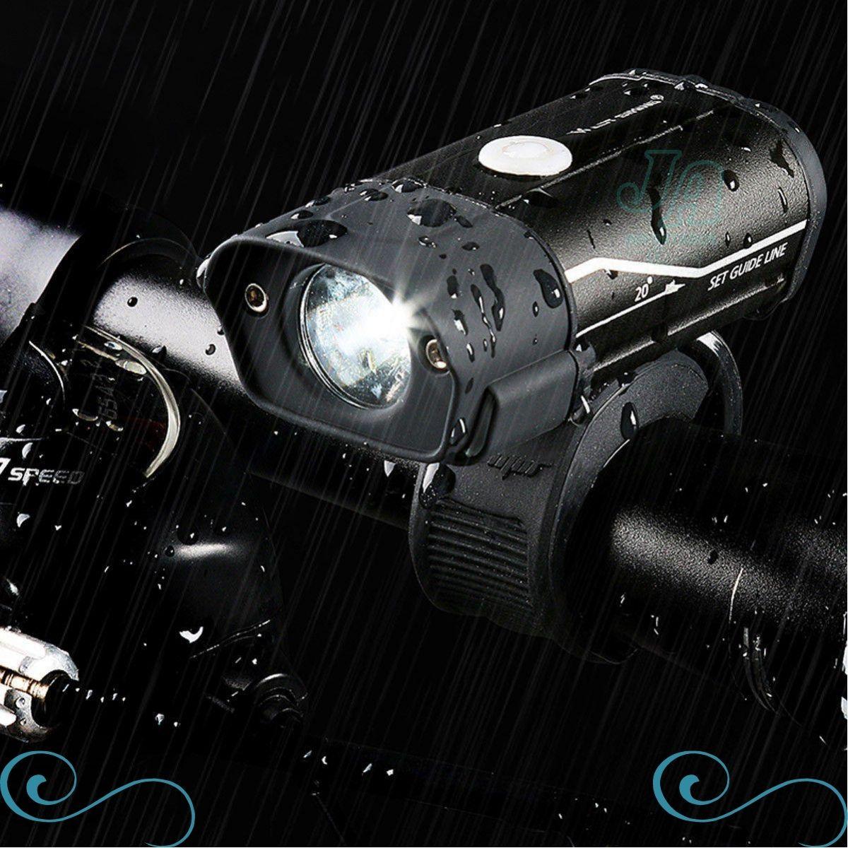 farol bike 350 lumens com usb recarregável lampada led