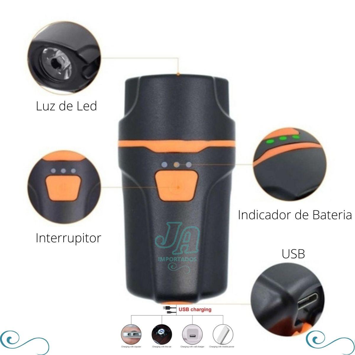 Farol Lanterna Bike Recarregável Usb Led Ultra Forte - LUZ LED PARA BICICLETA