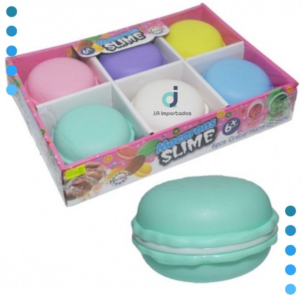 Kit Anti Estresse 06 Slime Geleia Massinha Perfumado