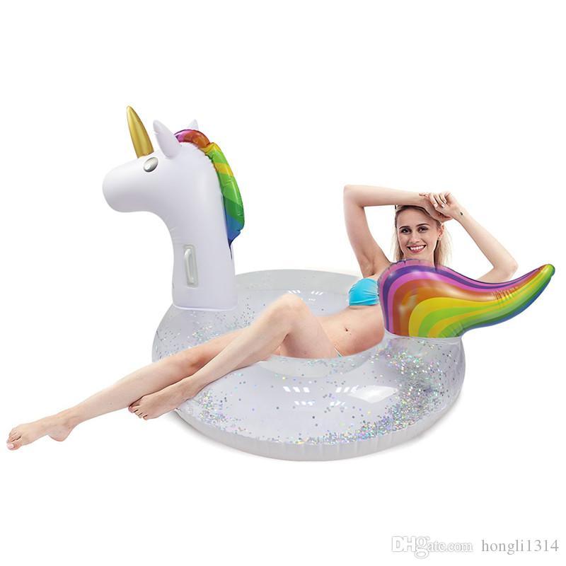 Kit Boia Unicórnio Adulto grande e  gigante verão piscina inflável