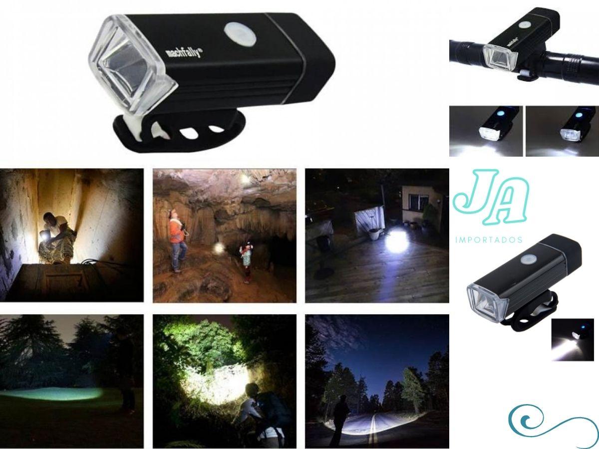 Lanterna Bike Led Dianteiro Luz Ciclismo Prova Dagua Cabo Usb 180 Lumens - COPY-99079-22
