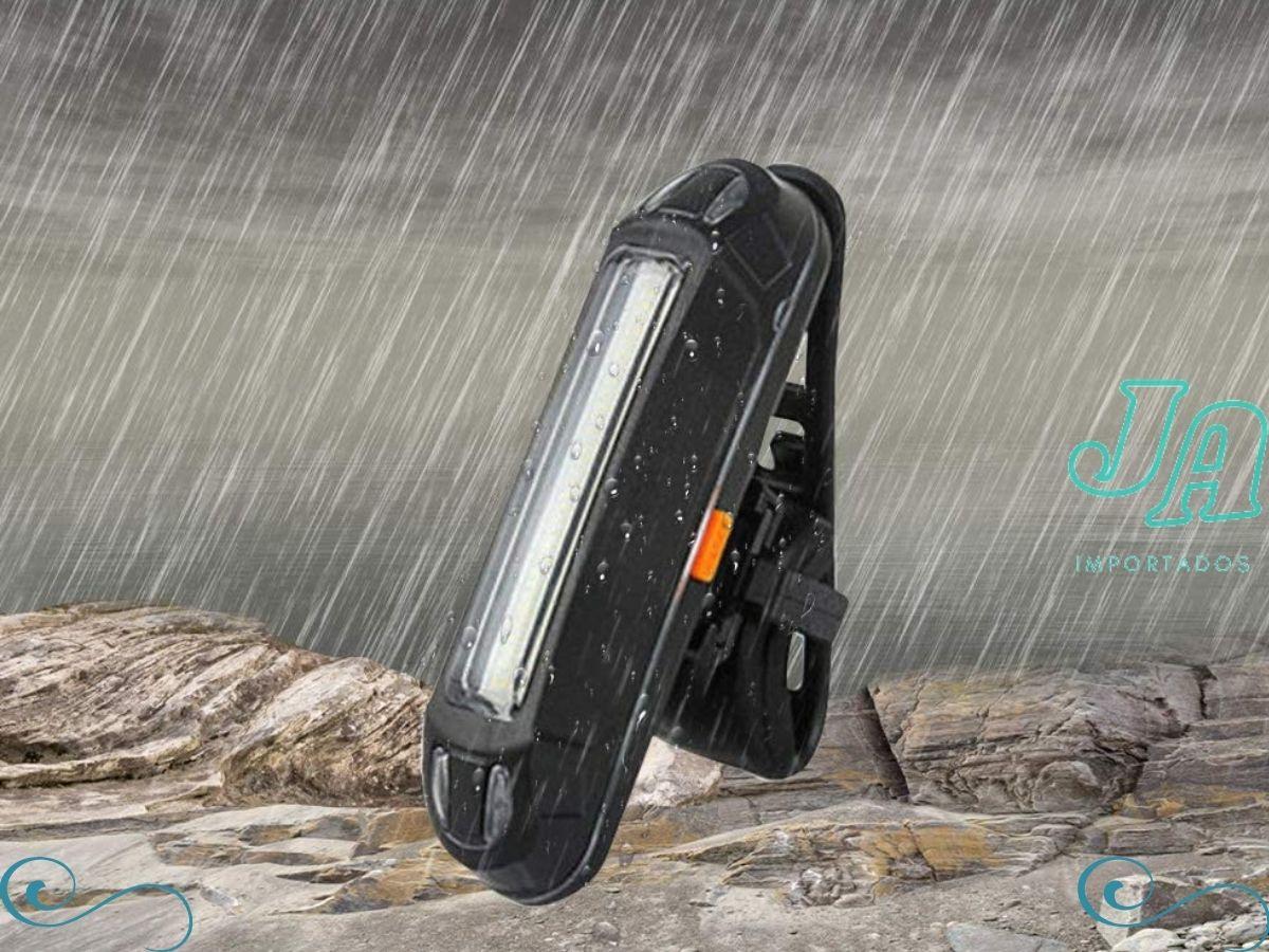 Lanterna Traseira Bike Led 2 Cores Sinalizador Usb 5 Modos