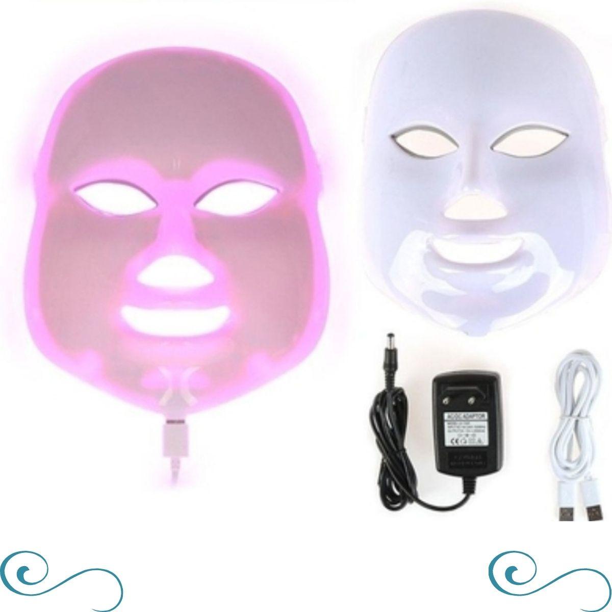 Máscara led 7 cores fitoterapia facial