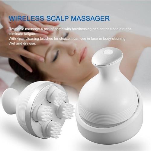 Massageador de Couro Cabeludo  Scalp Capilar Relaxante