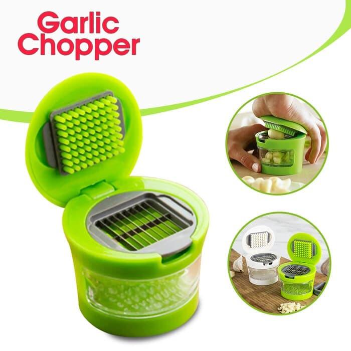 Picador E Fatiador Para Alho 2 Lâminas Garlic Chopper