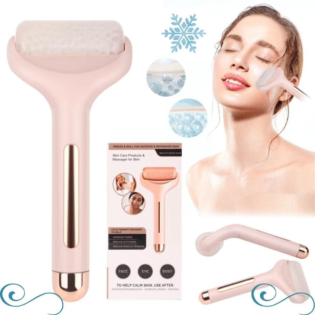Rolo massageador facial ice roller