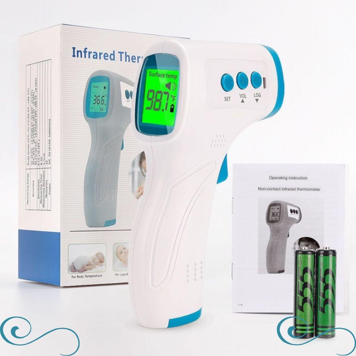 Termômetro Infravermelho Sem Contato febre e ambiente