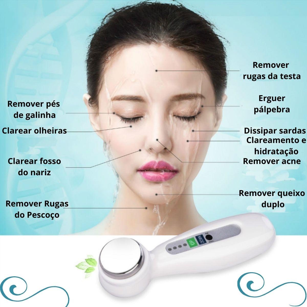 Ultrassom Facial e corporal Portátil 1Mhz