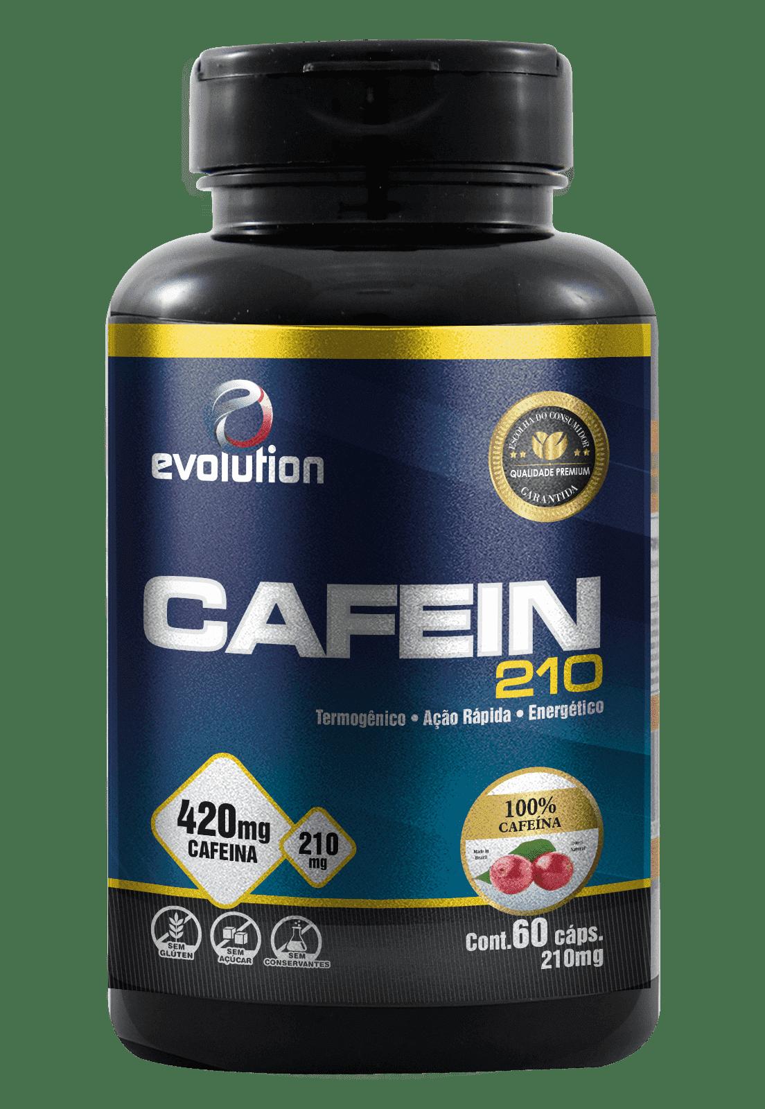 Cafein 210 (60 Cáps) - Evolution.