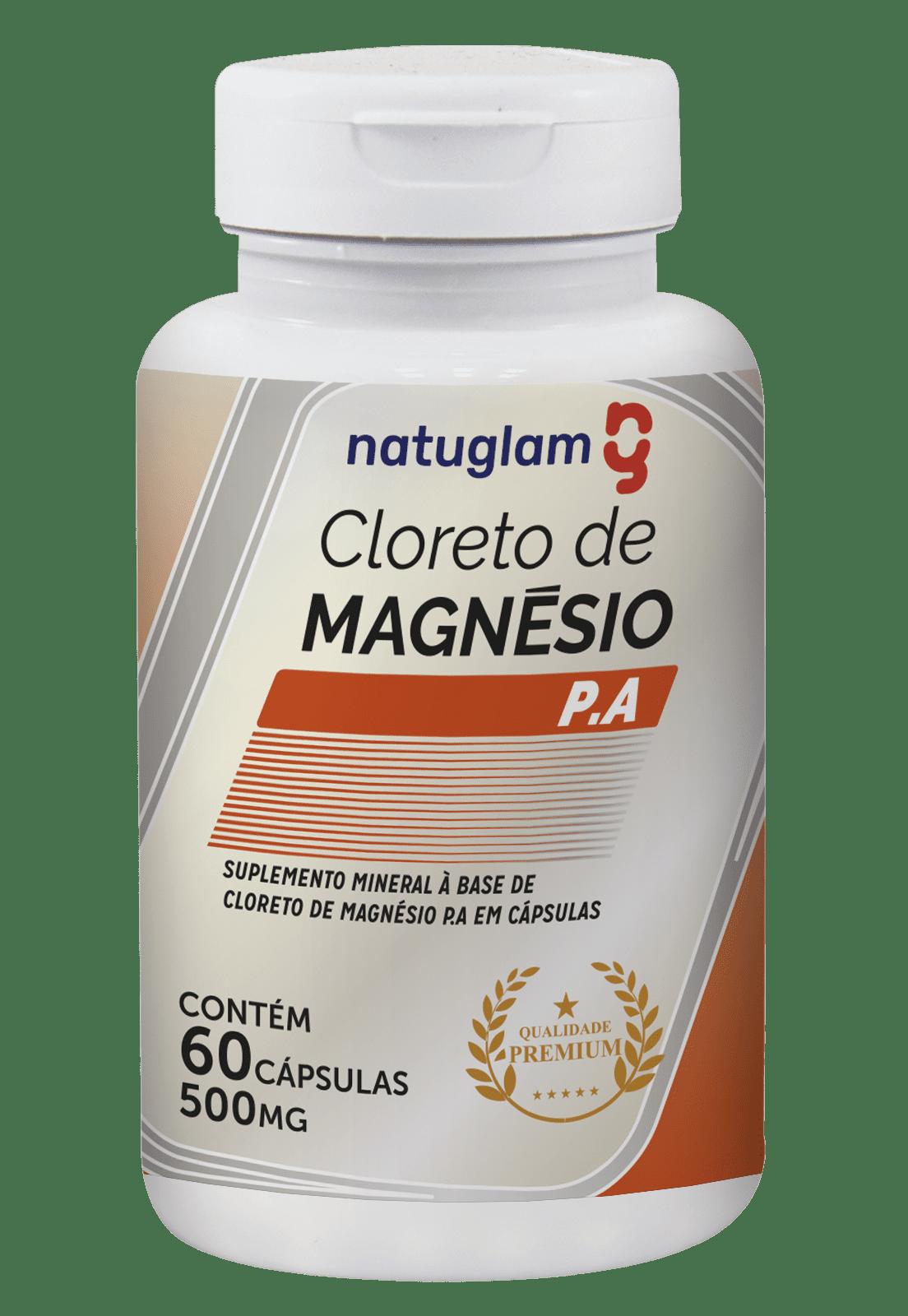 Cloreto de Magnésio P.A. 60 Cáps - 500mg.