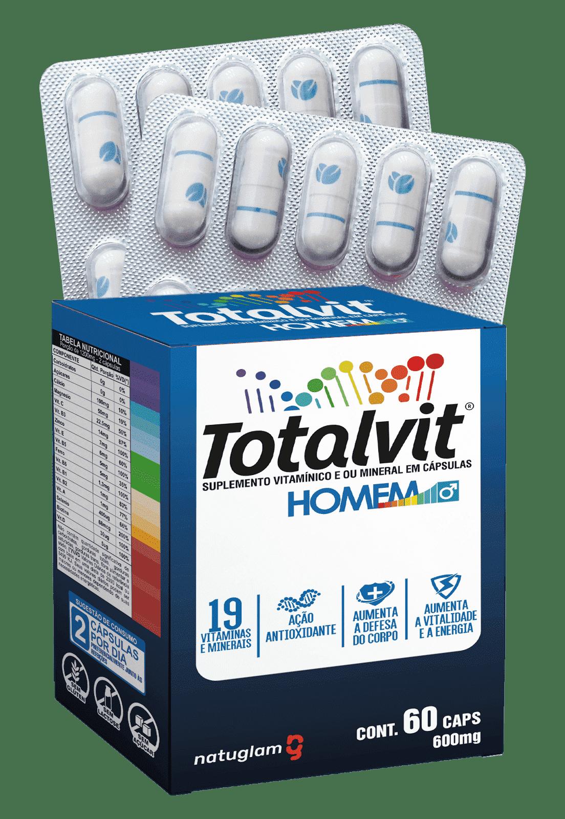 Totalvit Homem (60 Cáps.) - 500mg.