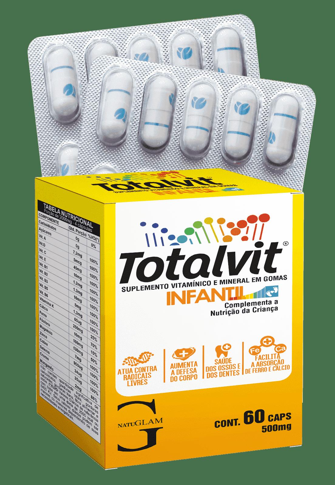 Totalvit Infantil (60 Cáps.) - 500mg