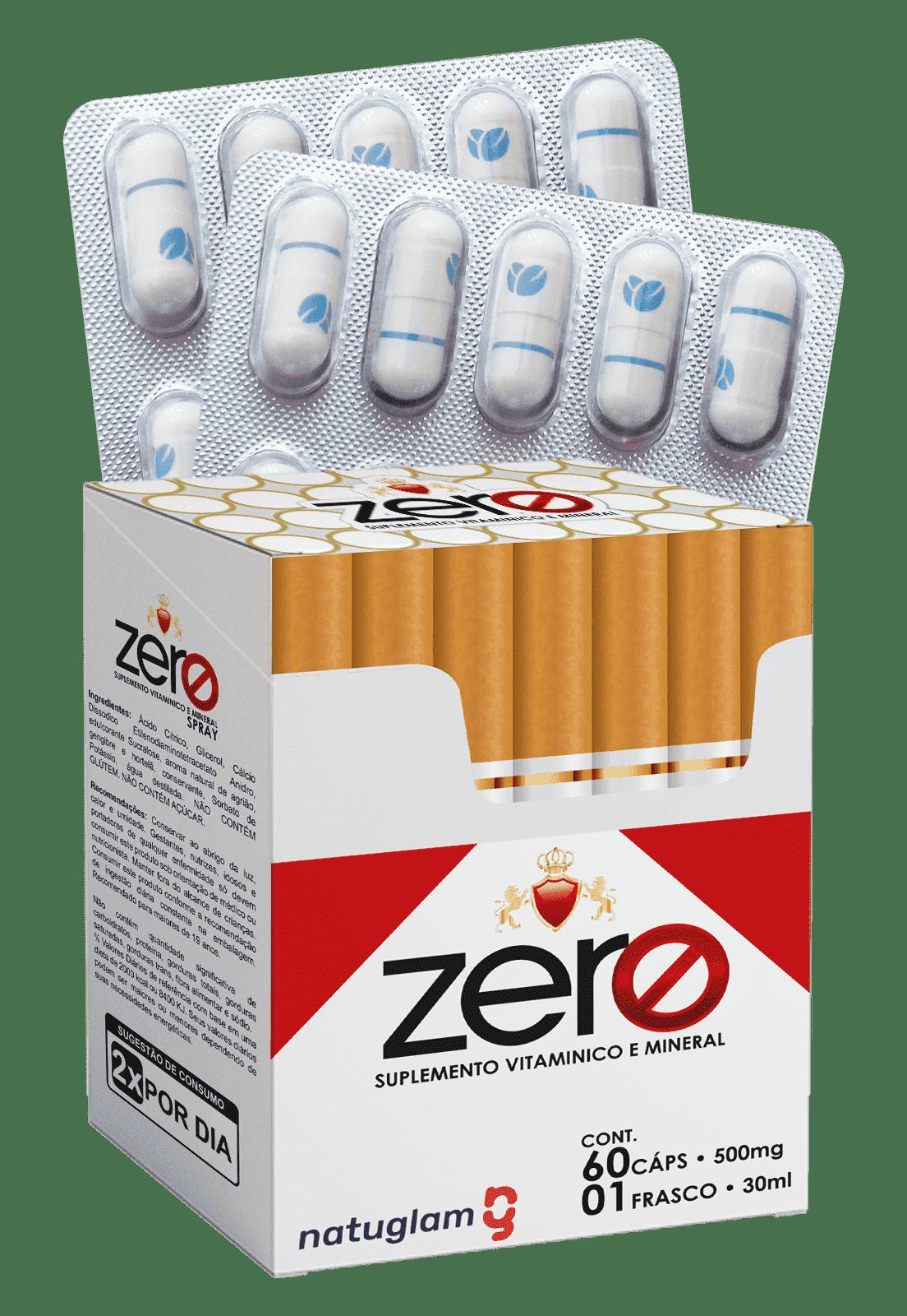 Zero Suplemento Vitamínico e Mineral (60 Cáps.) e 01 FRASCO (30ml).