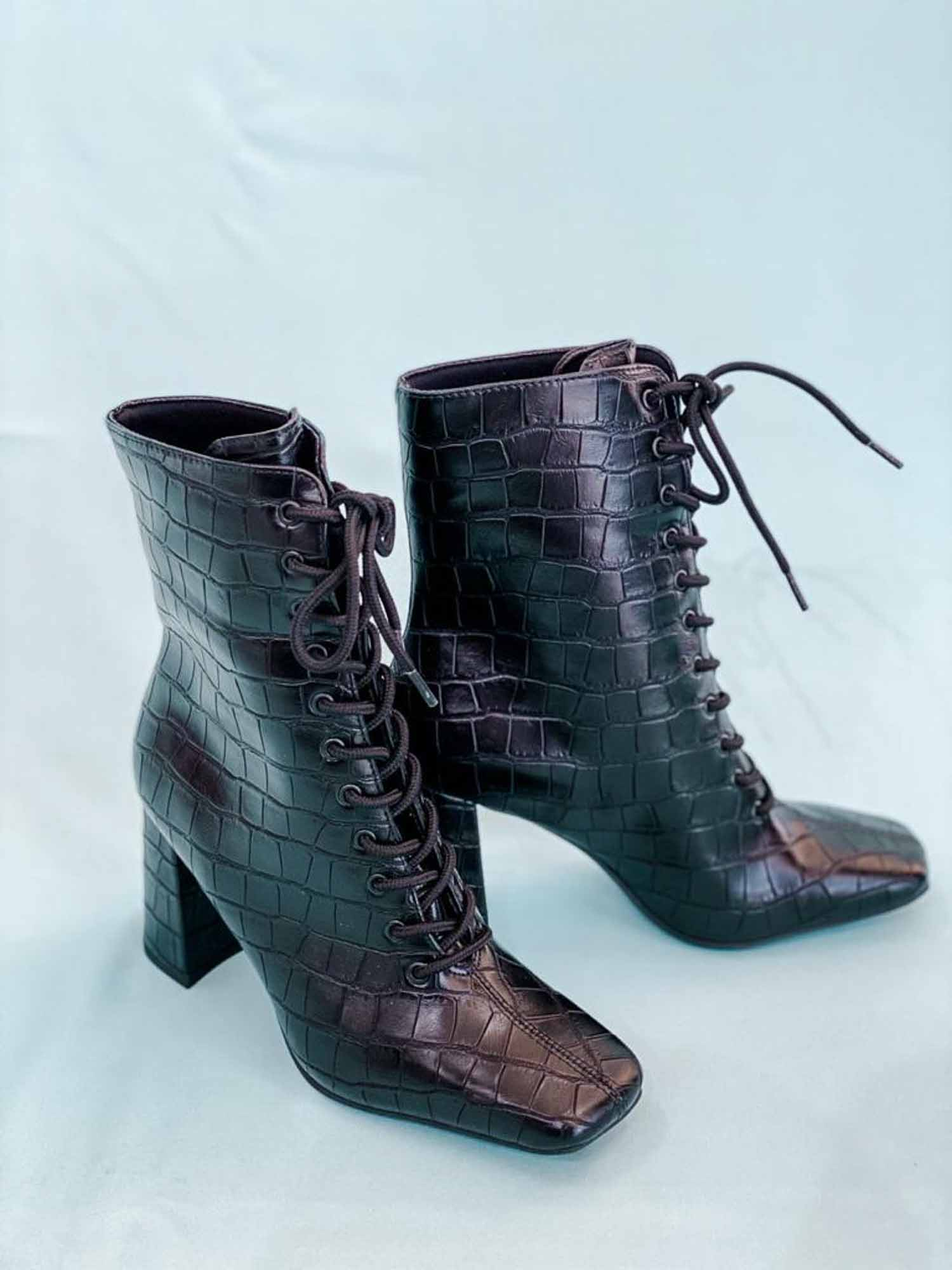 ANKLE BOOT SKIN CROCO