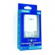 FONTE CARREGADOR INTELIGENTE INOVA PRIME 5.1A 3 USB CAR-5201 SEM CABO CX-03 7893590426182