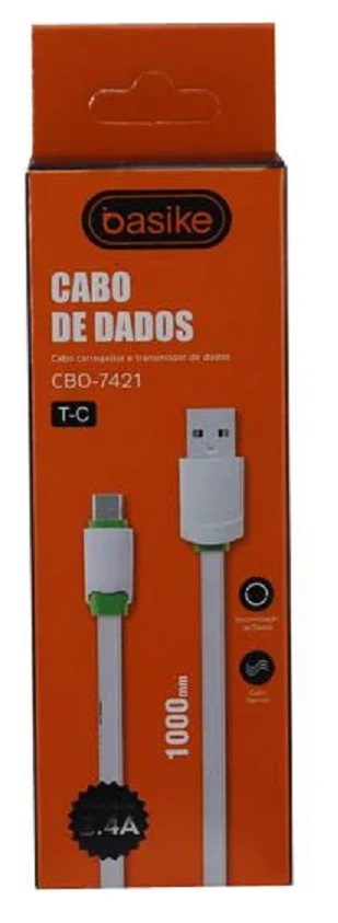 CABO BASIKE 2.4A TIPO C -USB CBO-7421 - 1 METRO    TYPE C CX01  7893595552923
