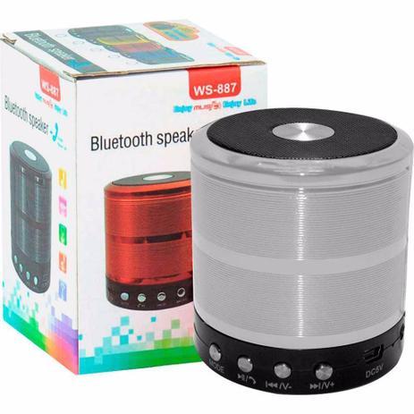 CAIXA DE SOM BLUETOOTH V3.0 WS-887 MINI SPEAKER PRATA CX-06 7834805859008