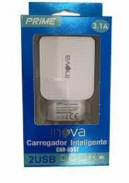 FONTE CARREGADOR INTELIGENTE INOVA PRIME 3.1A 2 USB CAR-8557 SEM CABO CX-03 7893590428827
