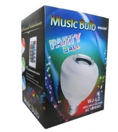 LAMPADA MUSICAL BLUETOOTH MUSIC BULB PARTY BALL LED COM CONTROLE REMOTO SEM FIO  CX03 4086937913536