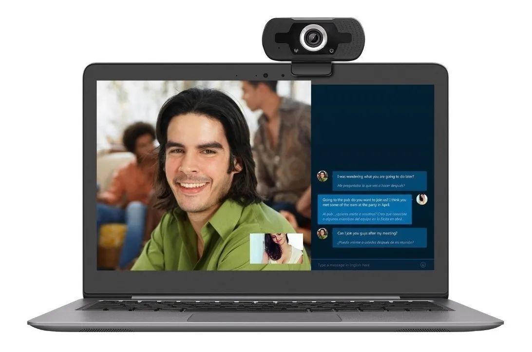 WEBCAM CAMERA FULL HD 1080P USB DE COMPUTADOR COM MICROFONE  CX01