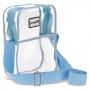 Bolsa Shoulder Bag Transversal Ajustável Transparente Azul