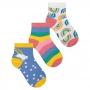Meia Infantil Menina Kit 3 Pares Colorida Arco-Íris