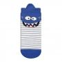 Meia Infantil Menino Kit 3 Pares Colorida Monstro Tigre
