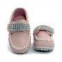 Mocassim Infantil Baby Menina Calce-Fácil Strass Rosa