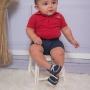 Mocassim Infantil Baby Menino Franja Marinho
