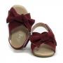 Sandália Infantil Baby Menina Laço Vermelha