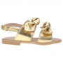Sandália Infantil Menina Laço Duplo Dourada