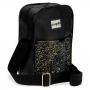 Sandália Slide e Bolsa Shoulder Bag Infantil Menina Feminina Kit Glitter Preta