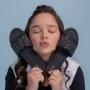 Chinelo Sandália Slide Infantil Menina Glitter Preta