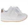 Tênis Infantil Baby Menina Calce-Fácil Esportivo Laço Branco