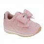 Tênis Infantil Baby Menina Calce-Fácil Esportivo Laço Rosa