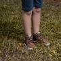 Tênis Infantil Juvenil Menino Cano Alto Calce-Fácil Leão Marrom