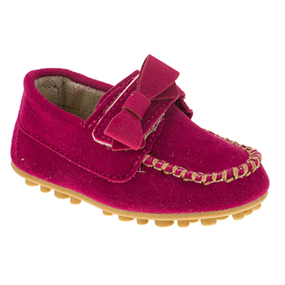 Mocassim Infantil Baby Menina Calce-Fácil Laço Pink