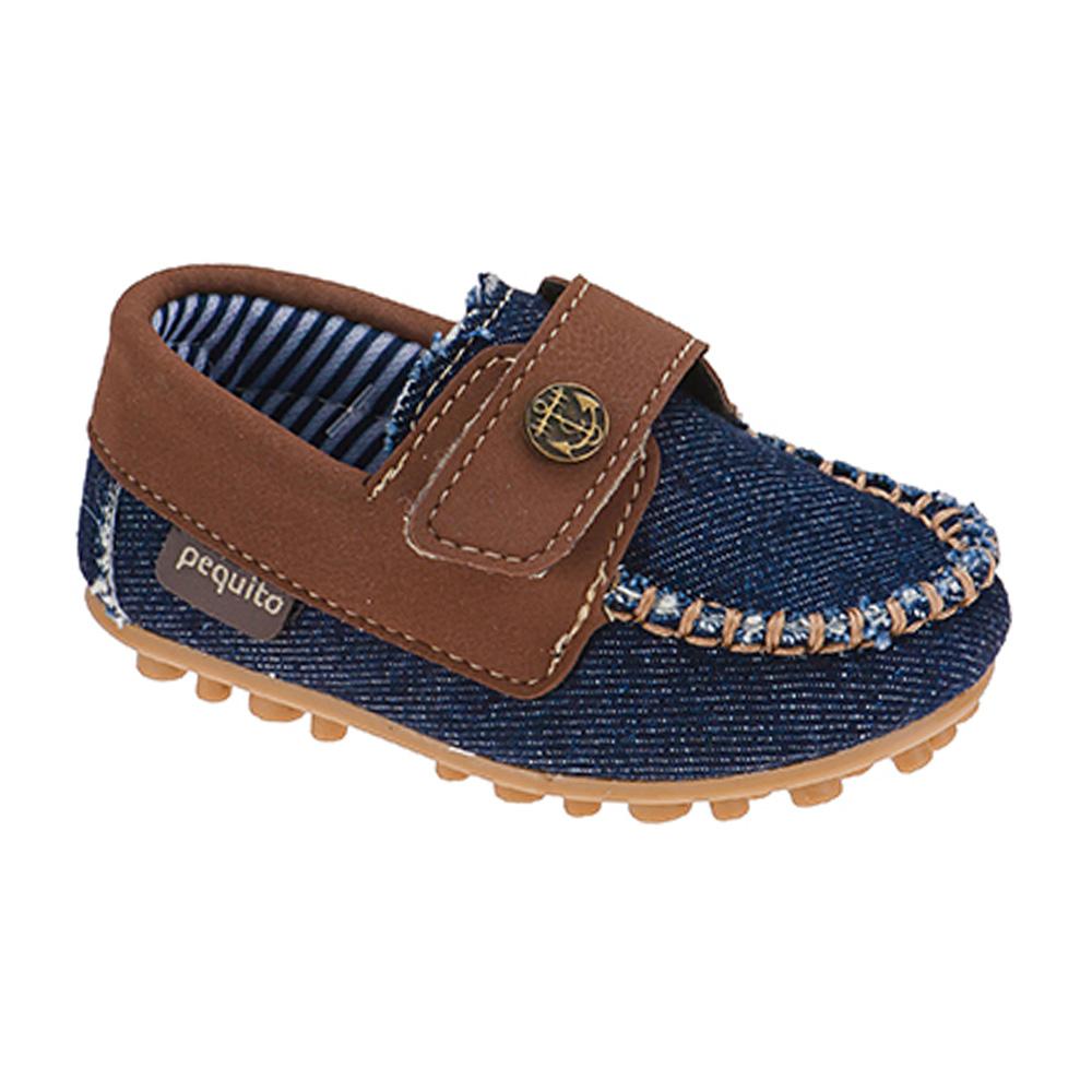 Mocassim Infantil Menino Calce-Fácil Bicolor Jeans
