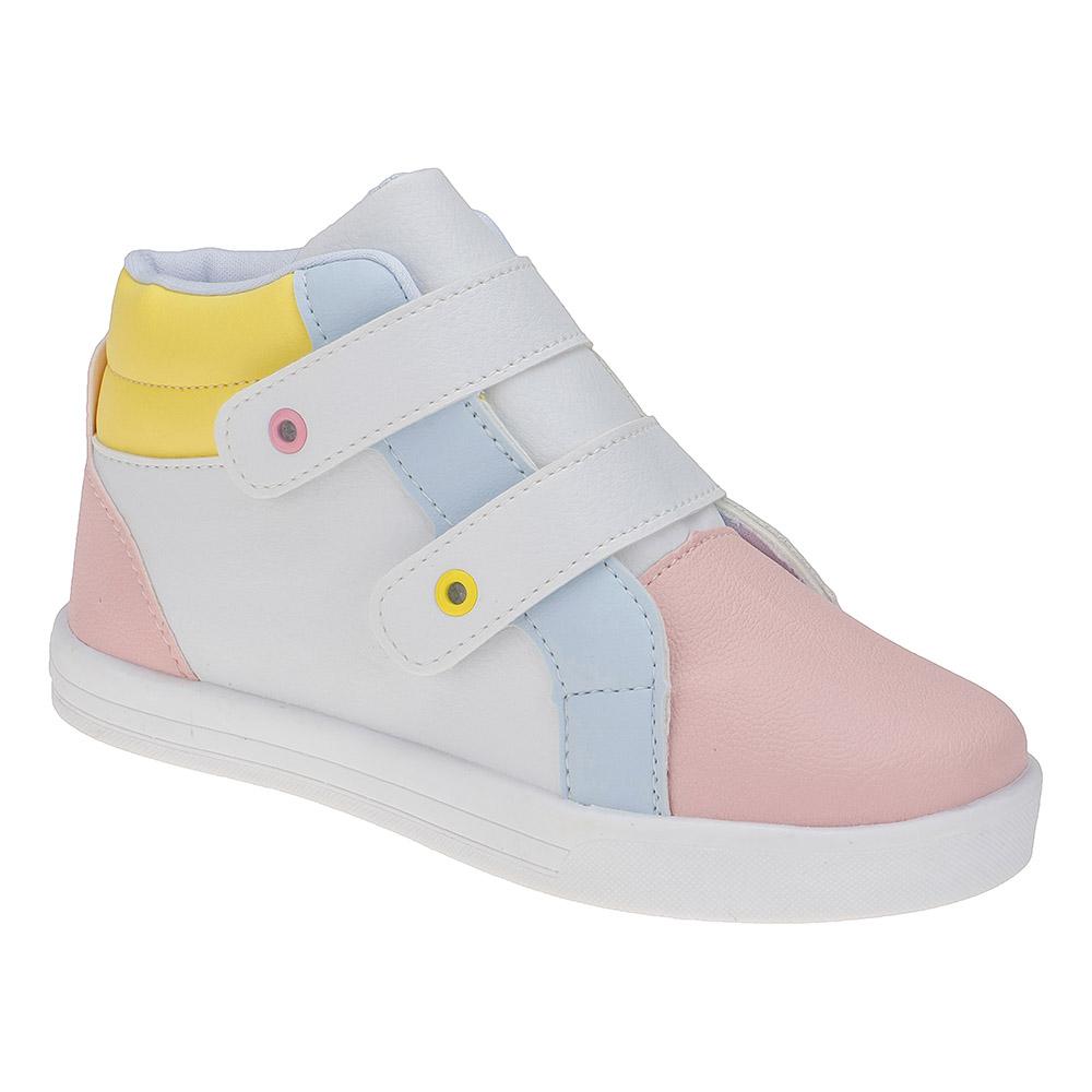 Tênis Infantil Juvenil Menina Cano Alto Calce-Fácil Colorido Candy Color