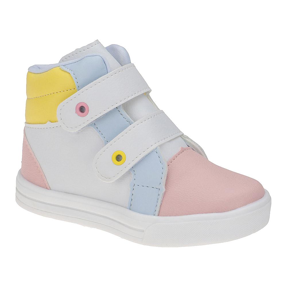 Tênis Infantil Menina Cano Alto Calce-Fácil Colorido Candy Color
