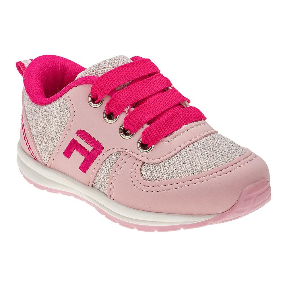 Tênis Infantil Menina Esportivo Rosa e Pink