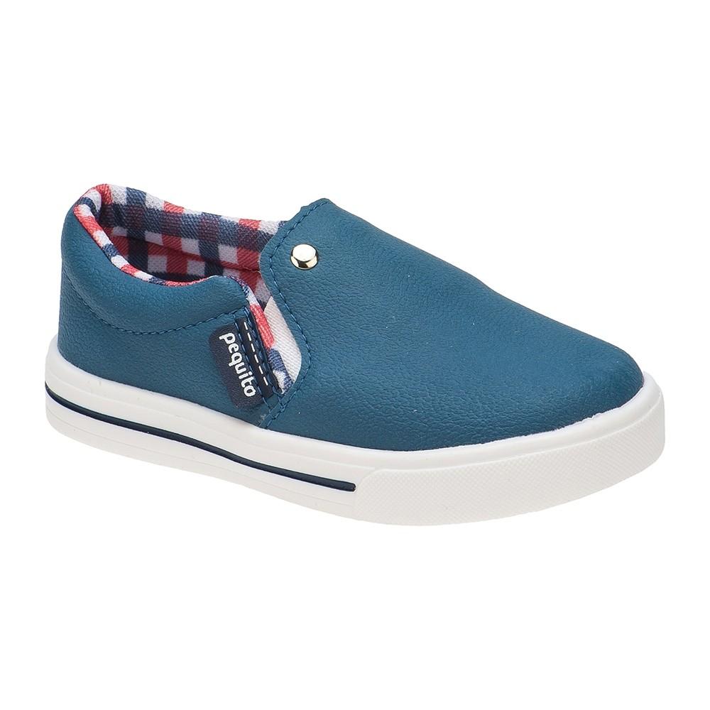 Tênis Slip on Infantil Menino Elástico Azul Jeans