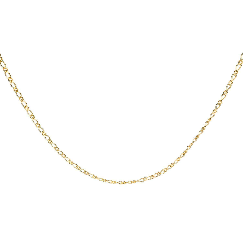 Corrente Unissex 1x1 45cm Banhado a Ouro